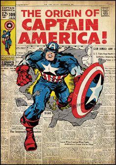 Comic Book Cover - Captain America Peel & Stick Comic Cover (RMK1646SLG)