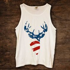 American Flag Buck Tank http://www.sixshootergiftshop.com/collections/tank-tops/products/american-flag-buck-tank