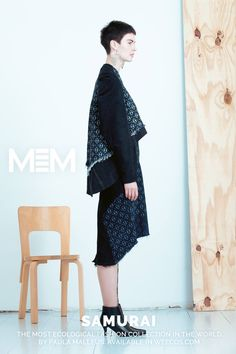 Pure postconsumer denim design MEM samurai 2017 Teru jacket  Same skirt