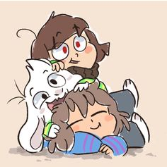 Mudkipful!! Chara, Asriel, and Frisk