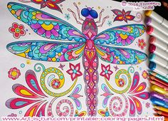 Groovy Animals Coloring Pages: 20 Detailed Animals to Color.. she has several other books too!