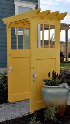 Arbour made from vintage doors