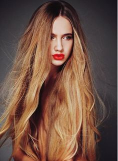 #hair #hairstyle #long #longhair #blond #blondhair #fashion #inspiration #red #redlips #lipstick #color