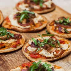 mini pizzas veganas   texturas de verduras