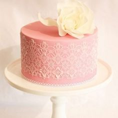 Each of these lace wedding cakes is more beautiful than the last...