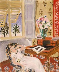 ◇ Artful Interiors ◇ paintings of beautiful rooms - Henri Matisse (1869-1954): 'Siesta: Nice, 1922'
