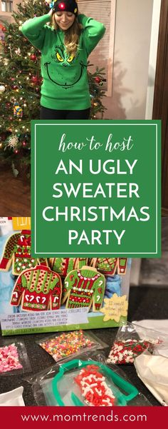 Ugly Sweater Party How to host an ugly sweater Christmas party. Holiday fun for. Christmas Party Games For Adults, Adult Christmas Party, Holiday Fun, Christmas Diy, Christmas Items, Christmas Goodies, Christmas Recipes, Christmas Presents, Holiday Ideas