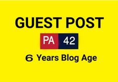 I will publish your guest post on my 6 years age money making blog