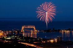 Duluth Fireworks by Doug Heimstead