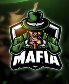 Mafia - Mascot & Esport Logo Template AI, EPS. Download Gaming Logo, Fantasy Logo, Esports Logo, Brochure Template, Logo Templates, Signature Logo, Vector Design, Logo Design, Logo Ideas