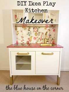 Ikea hack - kids kitchen So last year for our daughters first birthday, I turned an old entertainment unit into a play kitchen for her! Then our house was burnt down and it was lost. But she loved playing with it, it was… Ikea Kids Kitchen, Diy Play Kitchen, Ikea Hack Kids, Ikea Hacks, Ikea Duktig, Ikea Toys, Cubby Houses, Kids Decor, Home Decor