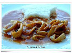 Calamars sauce américaine -