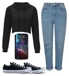 """""""Untitled #13"""" by rooloyola on Polyvore featuring Miss Selfridge and Converse"""