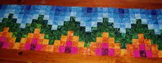 The Academic Quilter: Strips with style Bargello Runner