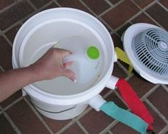 Portable DIY Bucket Air Conditioner To Keep A Small Room Or Tent Cool