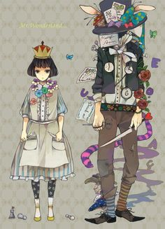 alice   alice in wonderland   anime   anime illustration   illustration   mad hatter