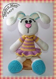 Mesmerizing Crochet an Amigurumi Rabbit Ideas. Lovely Crochet an Amigurumi Rabbit Ideas. Crochet Bunny Pattern, Crochet Rabbit, Crochet Patterns, Easter Crochet, Cute Crochet, Crochet Dolls, Amigurumi Doll, Amigurumi Patterns, Hamster