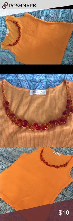 🍁🍂Beaded Tank top🍁🍂 🍂🍁Never worn, no damage/stains. 🍁🍂No defects🍁🍂I bought it in Hongkong. Tops Tank Tops