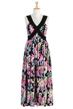 #Tropic blooms maxi dress, #Maxi, #eShakti, $69.95