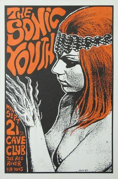 Sonic Youth // Concert gig poster art