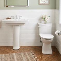 #YellowBathroomAccessories Shiplap Bathroom, Modern Bathroom, Brown Bathroom, Gold Bathroom, Basement Bathroom, Small White Bathrooms, Office Bathroom, Tiny Bathrooms, Upstairs Bathrooms