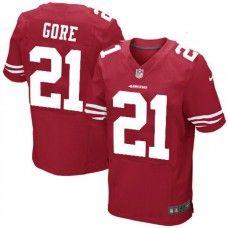 Nike Elite Mens  San Francisco 49ers #21 Frank Gore  Team Color Red NFL Jersey$129.99
