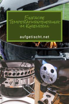 Neben einem Raucharoma der Holzkohle ist es für viele auch die Herausforderung das Feuer zu beherrschen. Feuer machen kann jeder, aber es zu beherrschen setzt eine gezielte Temperatursteuerung des Kugelgrills voraus. Auf dem Grillrost darf es weder zu heiß noch zu kalt sein. Das Resultat sehen und schmecken wir dann bei unserem gegarten Grillgut. Wie die Temperaturregelung am Kugelgrill genau funktioniert, möchten wir an dieser Stelle ausführlich erklären. #aufgetischtbbq Partys, Foodblogger, Bbq Grill, International Recipes, Grills, Creative Food, Cooking, Party Ideas, Brunch Recipes