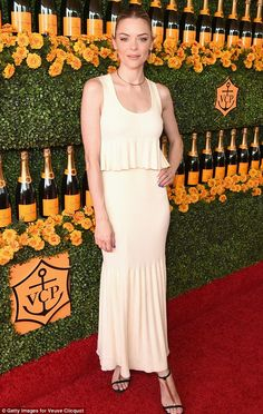 Simply stylish: New mom Jaime King kept it light in a two-piece dress...