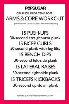 Arm& core workout
