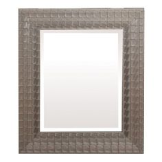 Yosemite Home Silver Blocks Framed Wall Mirror - MINT0
