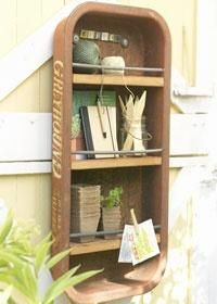 Reuse recycle at its finest.A rusty wagon gets new life as a hanging organizer for your shed or potting bench. Outdoor Projects, Craft Projects, Projects To Try, Craft Ideas, Metal Projects, Décor Ideas, Outdoor Ideas, Garden Projects, Project Ideas