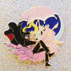 Hi, there! This is a seconds sale of the Original Usagi and Tuxedo Mask Falling pin. These pins have various defects such as overly thick lines, specks, scratches, and other flaws. These pins a...