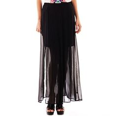 89b36a9d8c13 Bisou Bisou® Pleated Front Maxi Skirt - jcpenney  25.00 Size 16