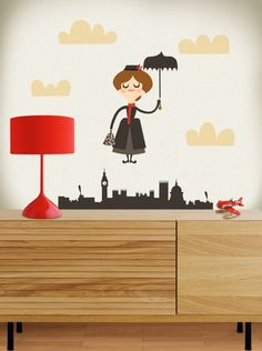 Mary Poppins wall sticker - Just LOVE it!!!