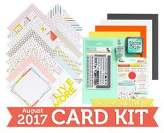 Simon Says Stamp's August card kit was just revealed today - and mine JUST  arrived so I was able to get my unboxing video filmed and up for y'all!