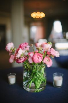 Pink ranunculus centerpiece, not just for weddings