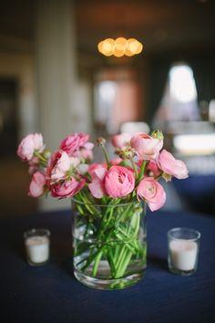 Pink ranunculus centerpiece, not just for weddings
