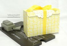 INTRODUCING the GIFT BAG PUNCH BOARD - Yellow Box 1