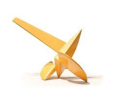 Art - Sculpture. Libertad. (escultura en metal), Eric Franco Metal Art Sculpture, Steel Sculpture, Abstract Sculpture, Art Thou, Yellow Art, Shape And Form, Modern Artists, Paper Clay, Public Art
