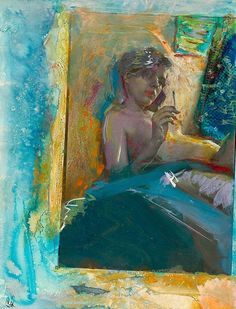 Saul Leiter - painted photograph