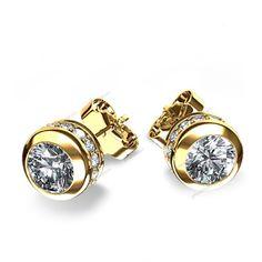 0.50 Carat 14k Yellow Gold Plated Round Cut Diamond Ladies Fashion Stud Earrings…