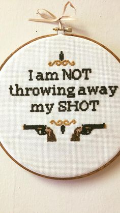 hamilton cross stitching | Tumblr