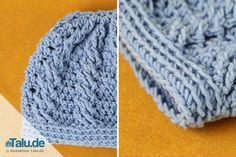 Make a crocheted hat – instructions + crochet pattern for a hat , - Knit Caps Kids Crochet Baby Beanie, Crochet Kids Hats, Knitted Headband, Knitted Hats, Hat Crochet, Beginner Knitting Projects, Easy Knitting, Knitting For Beginners, Crochet Projects