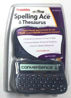 Franklin SA-206Plus Spelling Ace Plus & Thesaurus - Spell Correction - New #Franklin