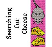 Peyote Bracelet Pattern Cute Mouse with Cheese