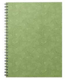 Green curved shape pattern spiral notebooks $14.35