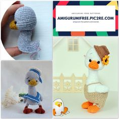We share a goofy goose pattern. You can visit our website for beautiful amigurumi free patterns. Stuffed Animal Patterns, Dinosaur Stuffed Animal, Kinds Of Triangles, Crochet Chicken, Crochet Dragon, Crochet Patterns Amigurumi, Double Crochet, Free Crochet, Free Pattern