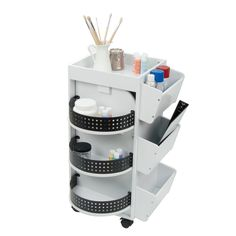 Studio Designs Home Swivel Mobile Craft Organizer - White - Studio Designs Craft Room Storage, Craft Organization, Storage Bins, Storage Spaces, Craft Rooms, Storage Ideas, Organizing Tips, Storage Solutions, Craft Space