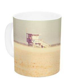 Toffee Marshmallow by Myan Soffia 11 oz. Sandy Beach Ceramic Coffee Mug