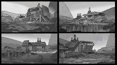 ArtStation - Desert Outpost, Gabriel Tan